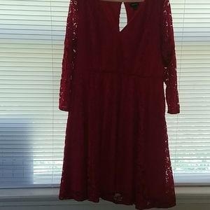 TORRID red lace dress size 2
